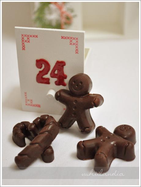 boże narodzenie - kalendarz adwentowy - domowe czekoladki DIY