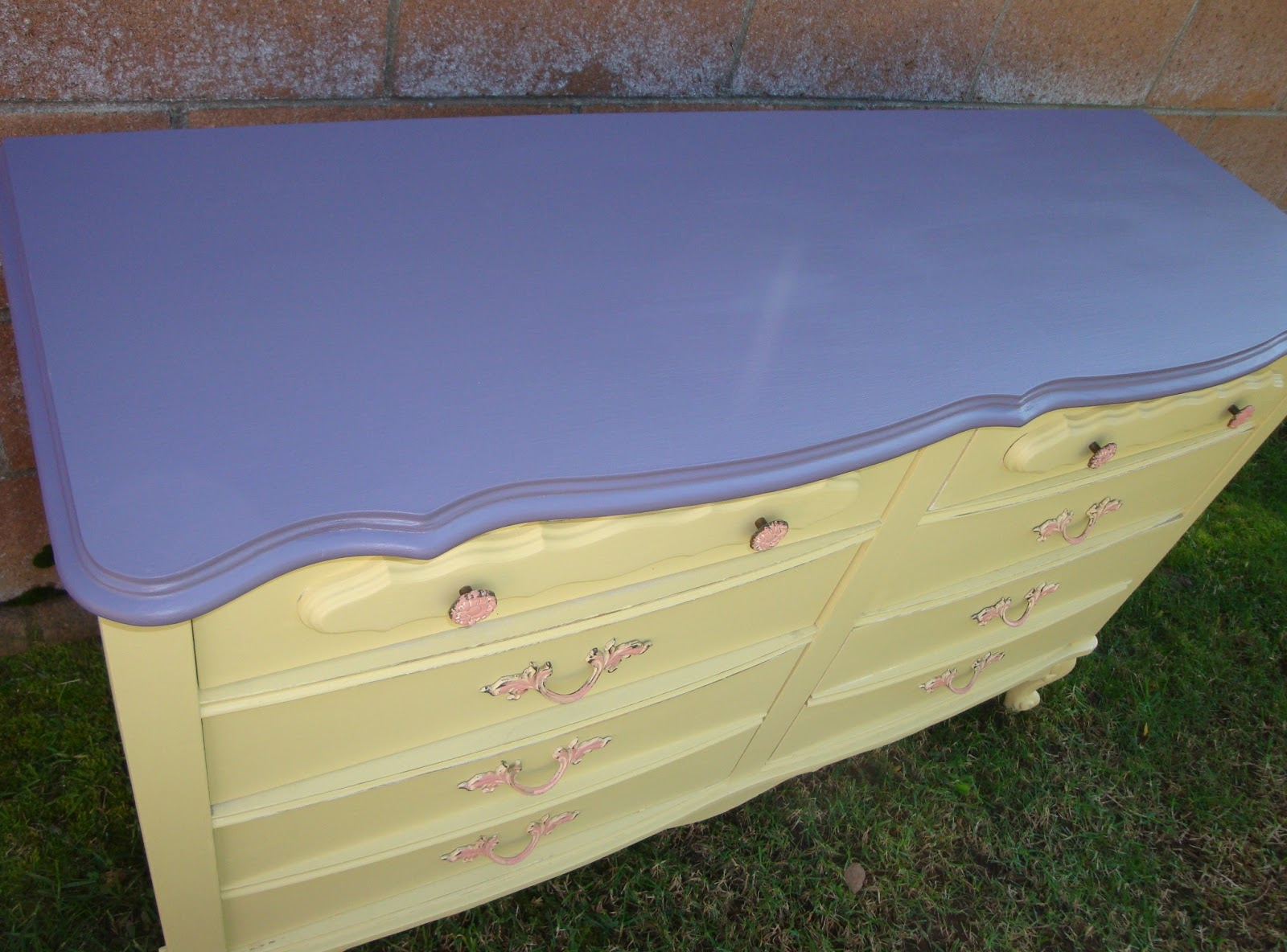 Yellow shabby chic furniture - Dresser Nagevoce Yellow Shabby Chic Cottage Style Sold 109