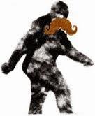 Sasquatch wearing a mustache