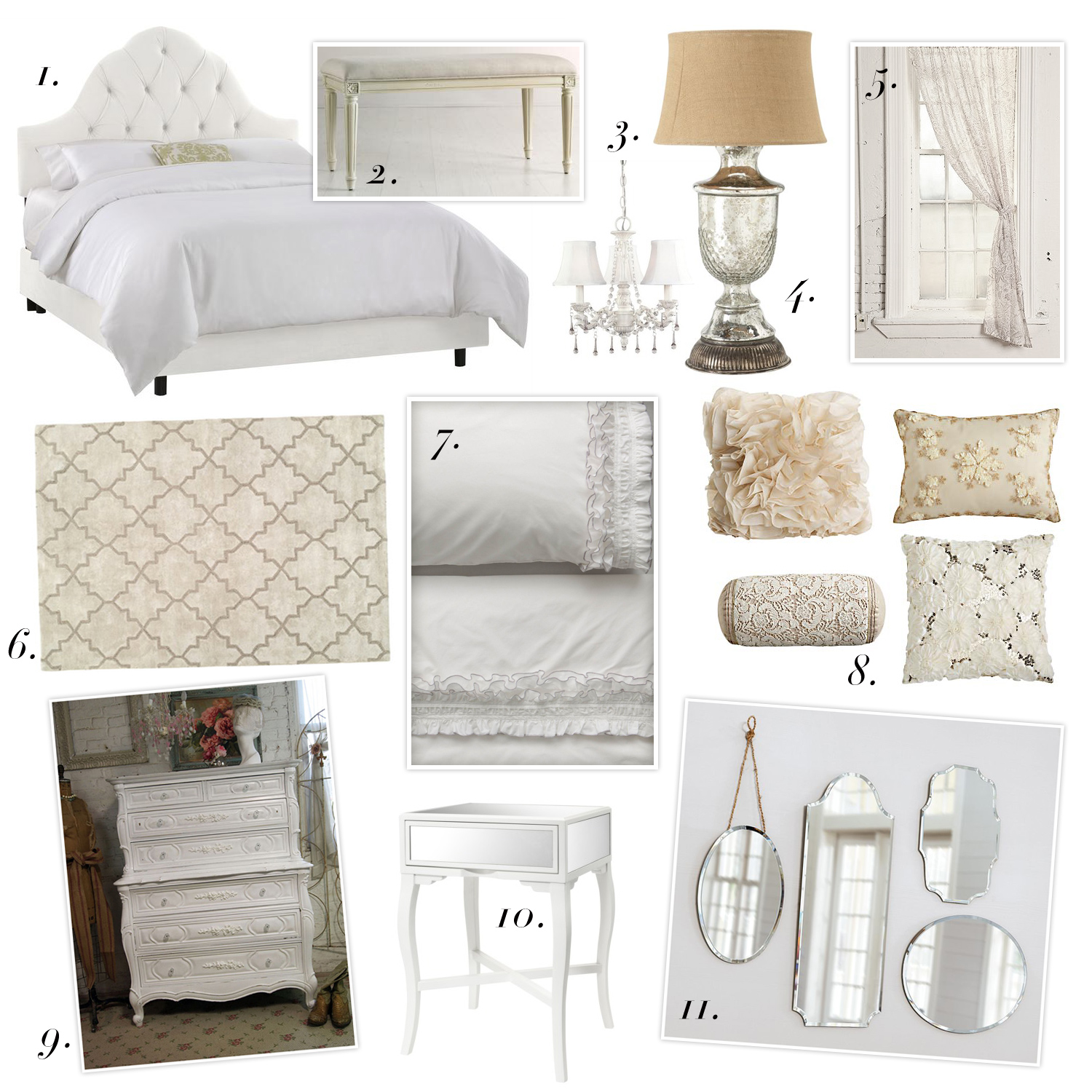 All things lovely inspiration affordable french bedroom for A bedroom in french