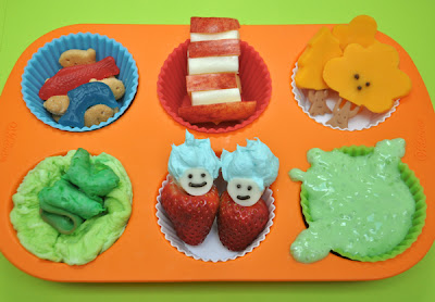 Seussilicious muffin tin meal