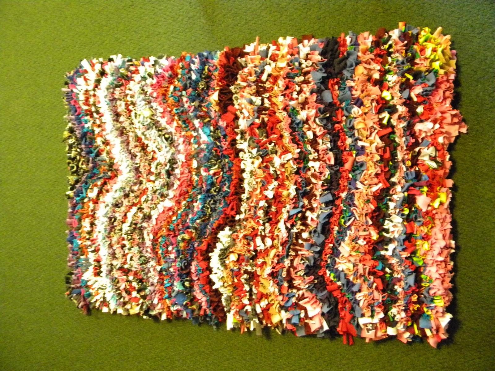a work of art studio prodded t shirt rag rug class