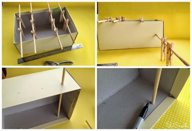 Mesa de Pebolim feita com caixa de sapato - PAP 01-02-03-04