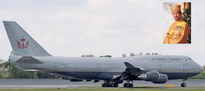 Pesawat yang diterbangkan Hasanal Bolkiah dari Brunei ke Amerika