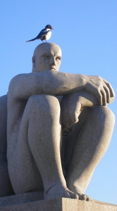 Skade på hovedet af Vigeland-statue