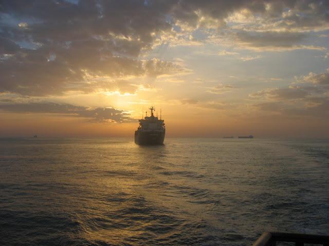 Ship Sailing Away