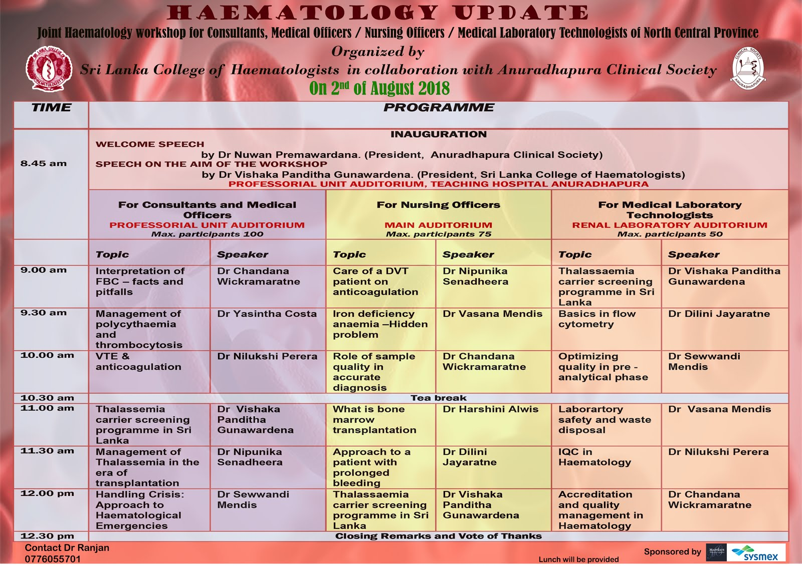 Haematology Update - (Joint Haematology Workshop)
