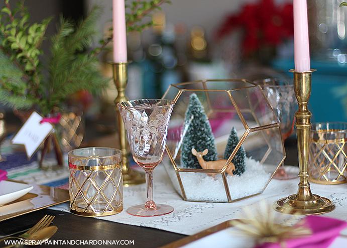 Spray Paint & Chardonnay: My Holiday Decor