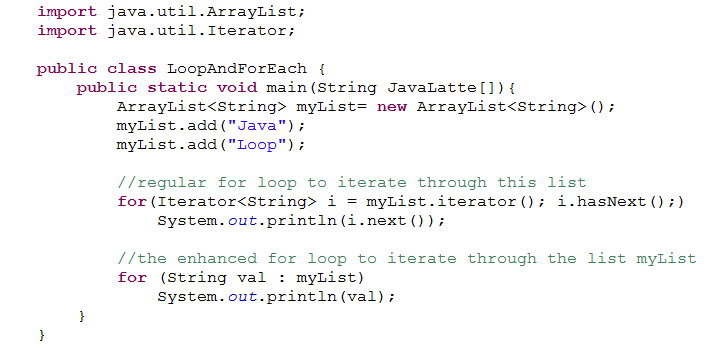 Java program to write an infinite loop using for and while