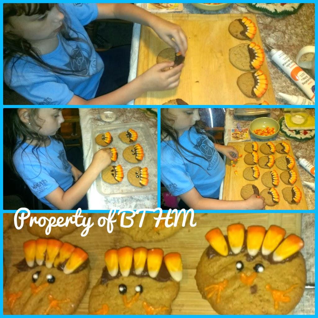 making turkey cookies