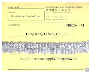 Spandex Sequins Trims Supplier - Hong Kong Li Seng Co Ltd