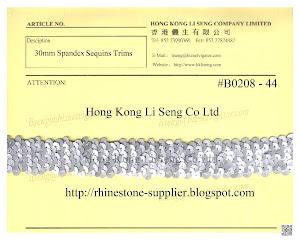 Spandex Sequins Trims Supplier - Hong Kong Li Seng Co Ltd