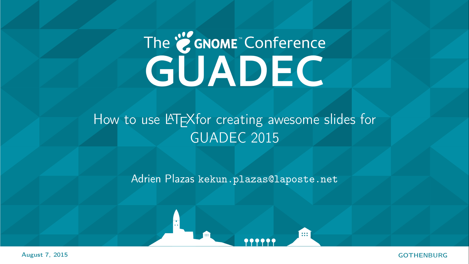 GUADEC 2015 get its Beamer template!