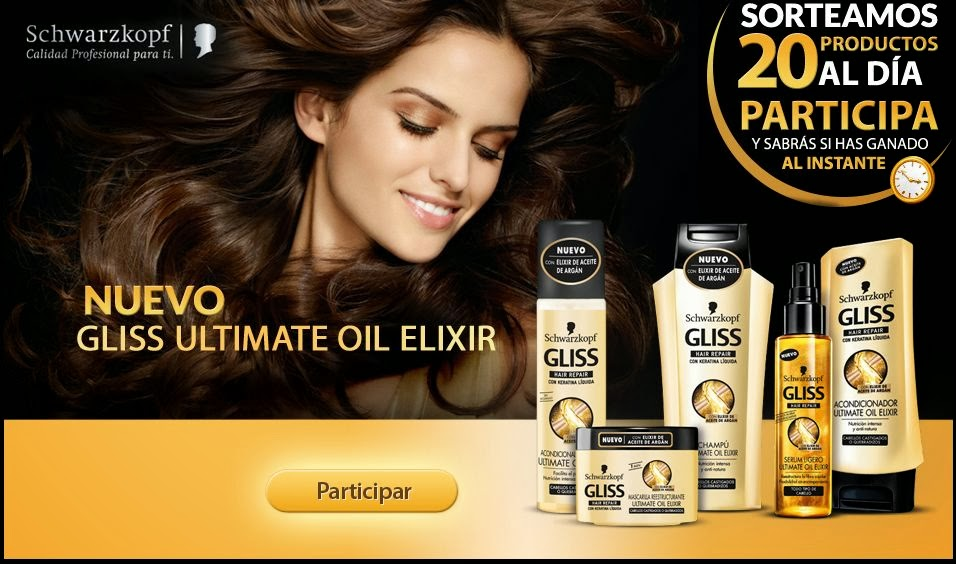Regalan 20 Productos Gliss Ultimate Oil Elixir Cada Día Gratis