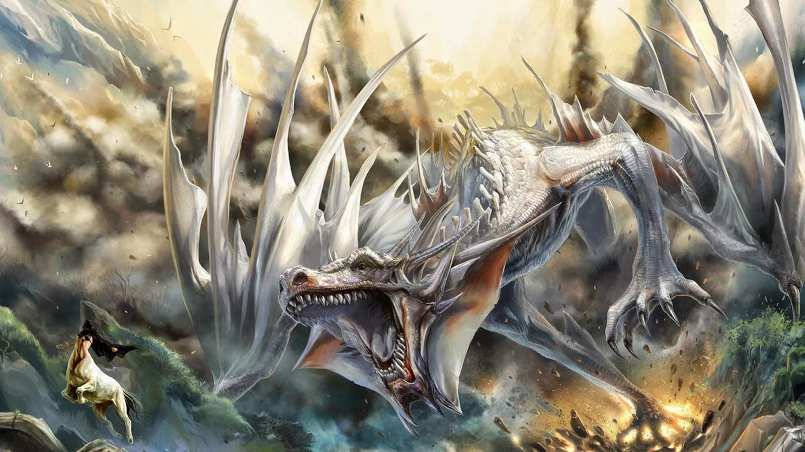 dragon blanco magestuoso