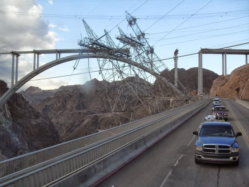 Photo du pont en construction