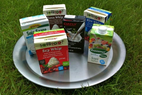 6 types of dairy-free vegan cream
