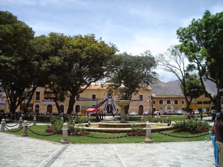 Plaza de Armas en Huánuco, Perú