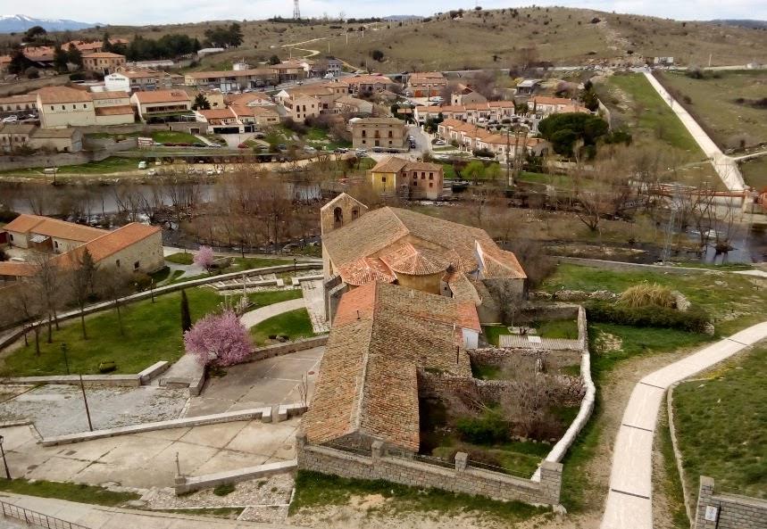 Restaurante el Molino de la Losa - vista desde la muralla