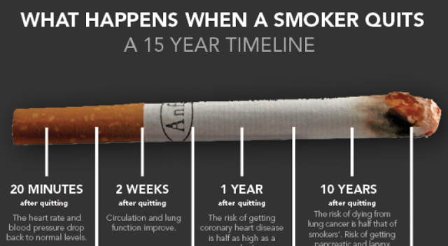 smoking 15 years timeline