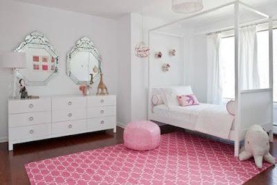 habitación rosa adolescente