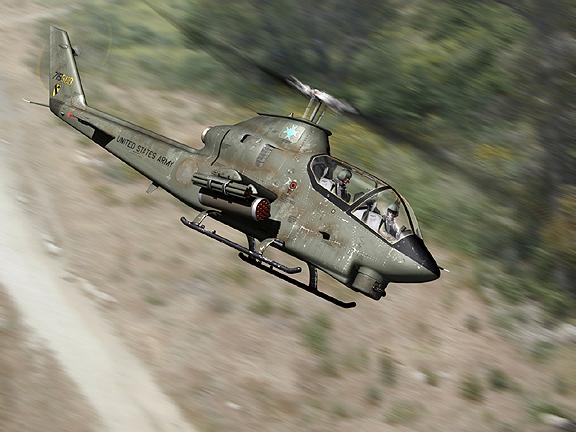 Ударный  вертолет ВМС США Bell AH-1 Cobra