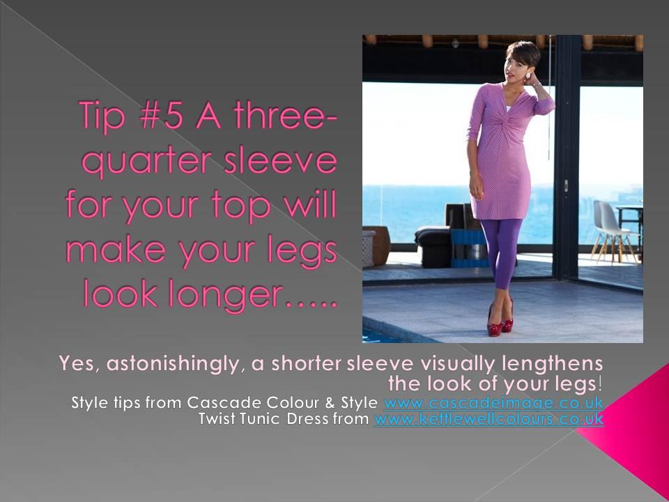 how to make legs longer and slimmer