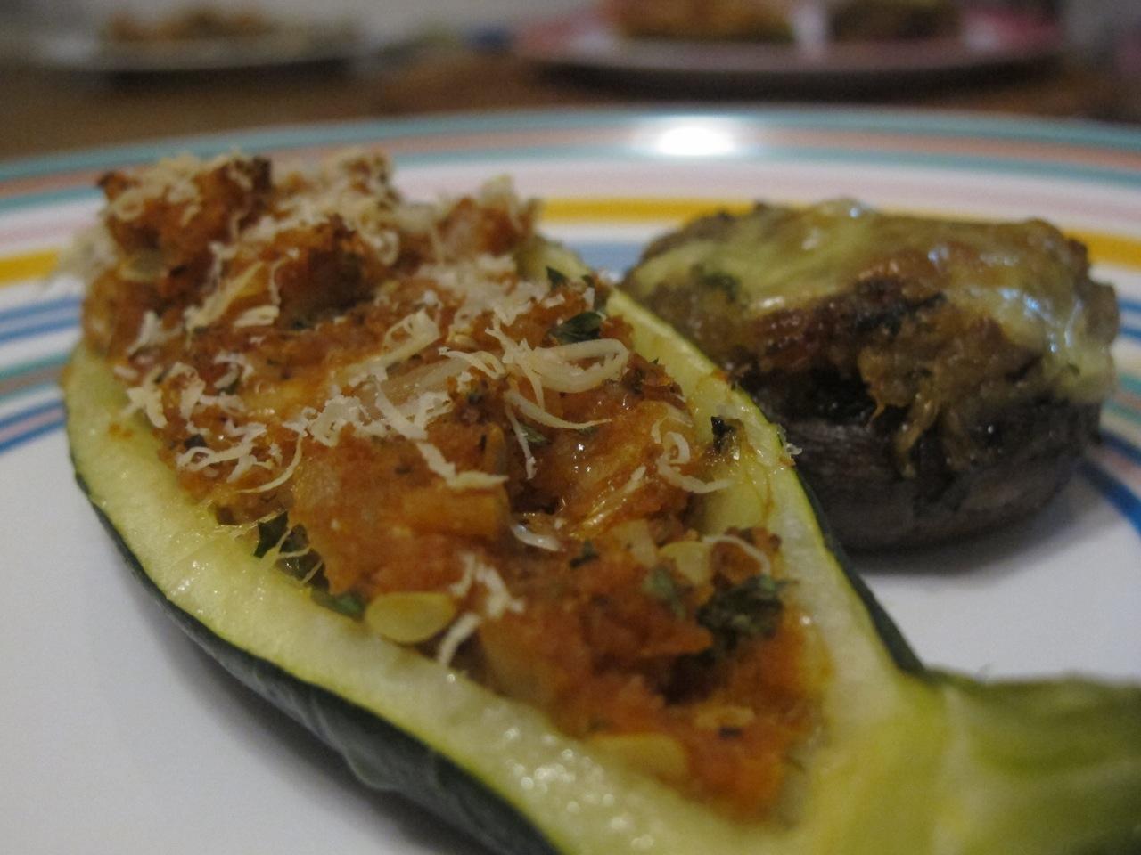 muppys: Stuffed Mushroom & Zucchini