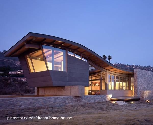 Casa de playa moderna techo ondulado