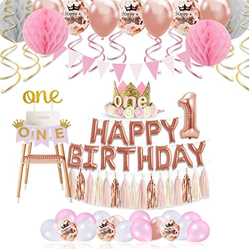 Xonara 1st Birthday Girl Decorations Princess Theme