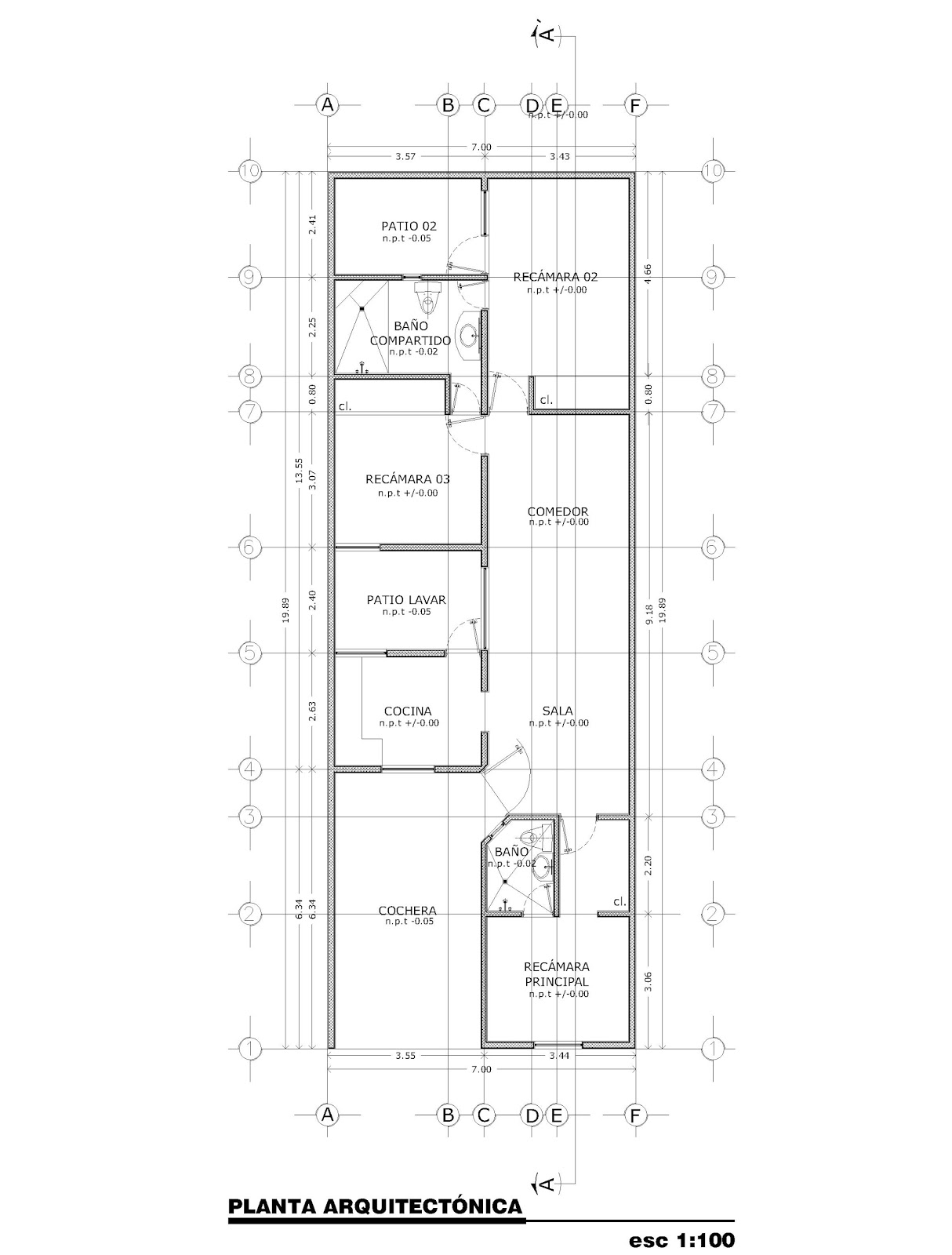 Orbed arquitectura construcci n casa habitaci n for Planos de casa habitacion