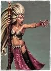 Slaanesh dark elf sorceress