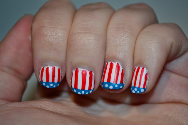 Matte American Flag Nails by Elins Nails