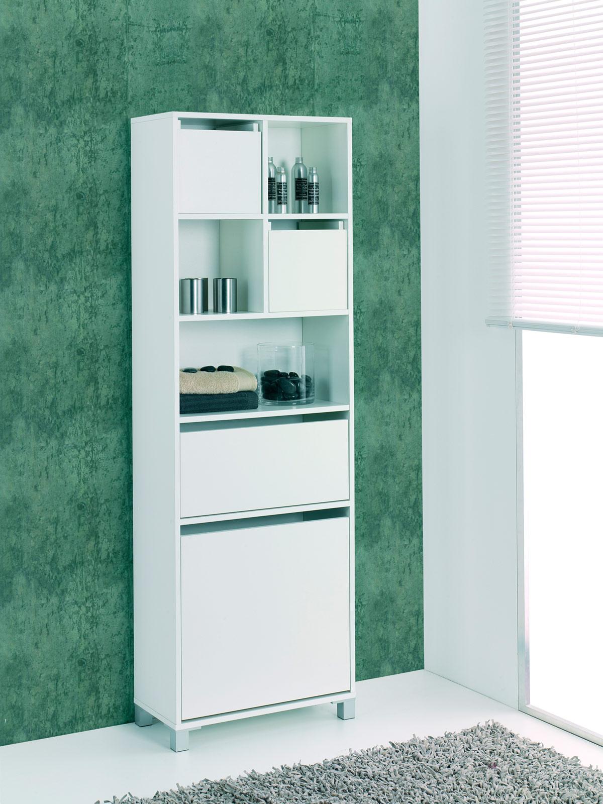 Columna mueble ba o en blanco barato oferta compradeluxe - Ofertas muebles de bano ...