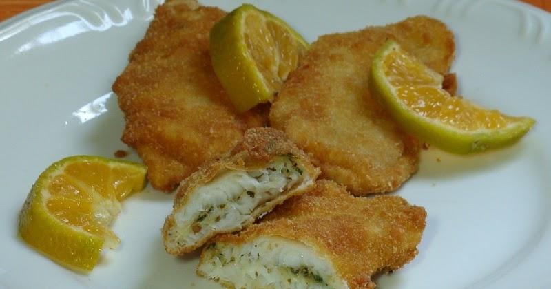 Filés de peixe recheados