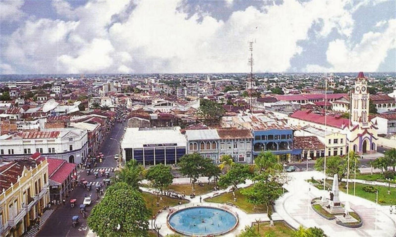 La ciudad de Iquitos en Perú
