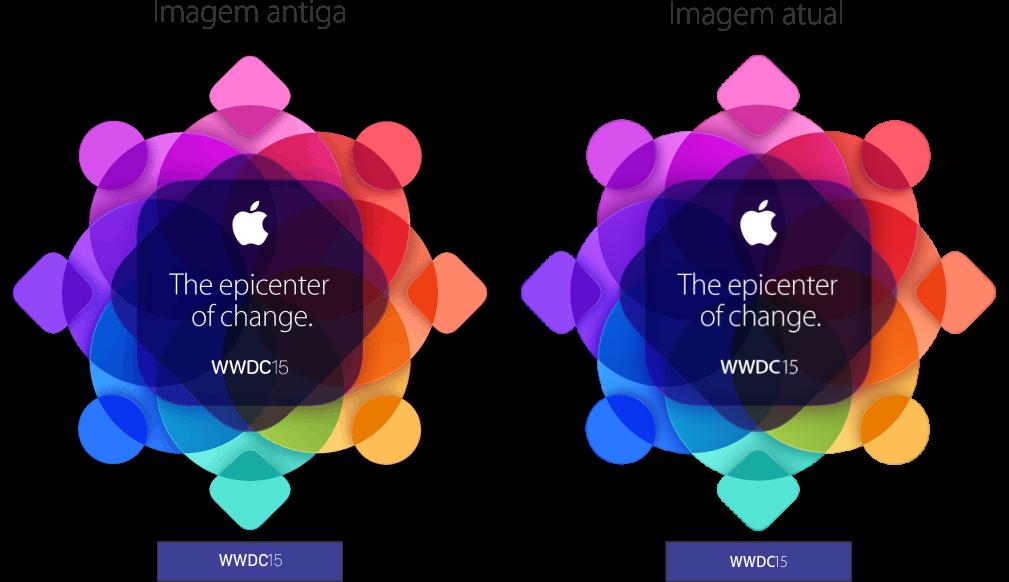 Diferença no logo da WWDC 2015