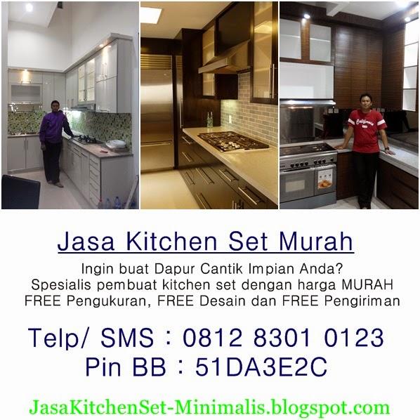 Kitchen set minimalis murah bikin kitchen gak pake mahal for Cara bikin kitchen set