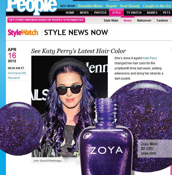 What do Katy Perry and Zoya Nail Polish Have in Common? | Zoya Nail ...