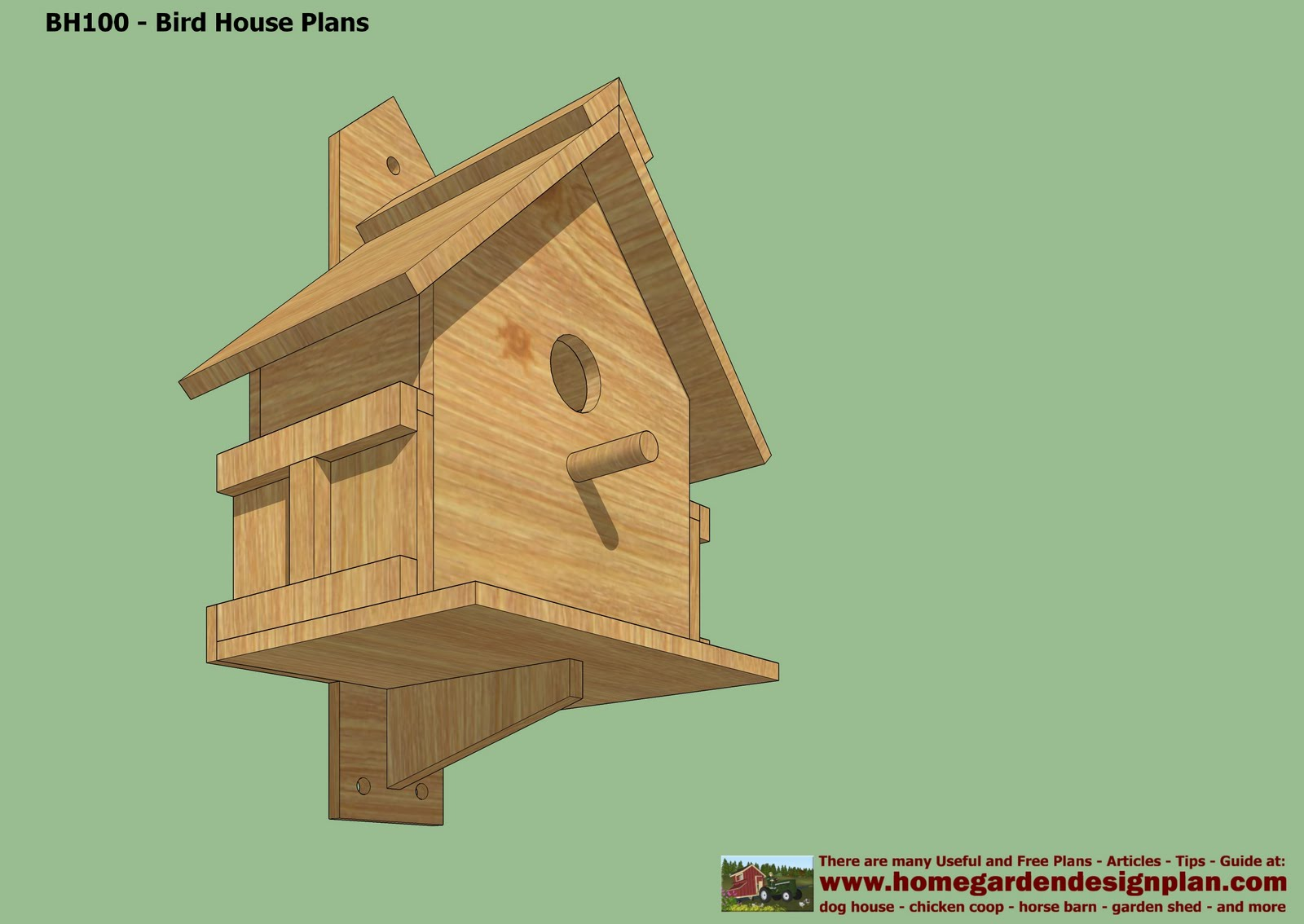 Free bird house vector