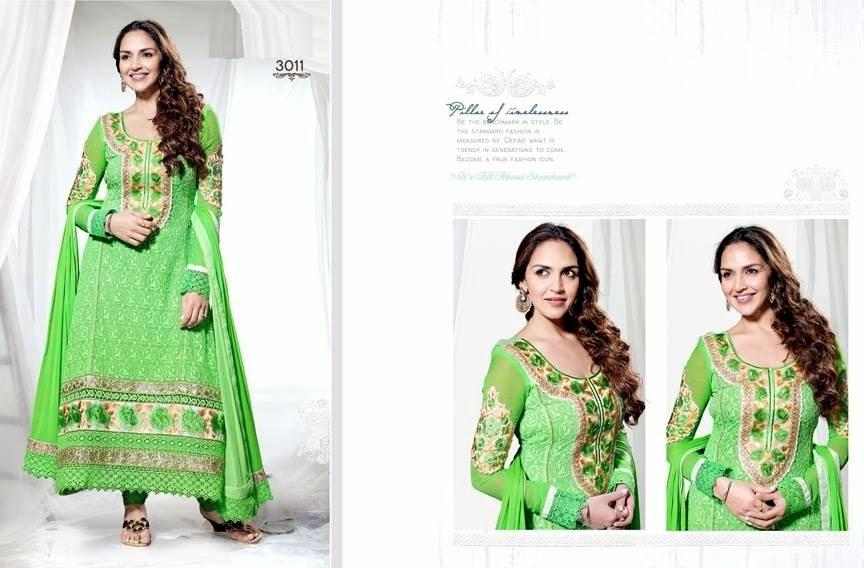EshaDeolSalwarSuits2013 2014 wwwfashionhuntworldblogspotcom 009 - Wonderful Color Combination Esha Deol Suits