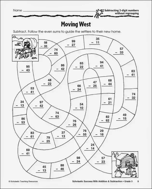 Collection of Subtraction With Regrouping Coloring Worksheets – Subtraction Games Worksheets
