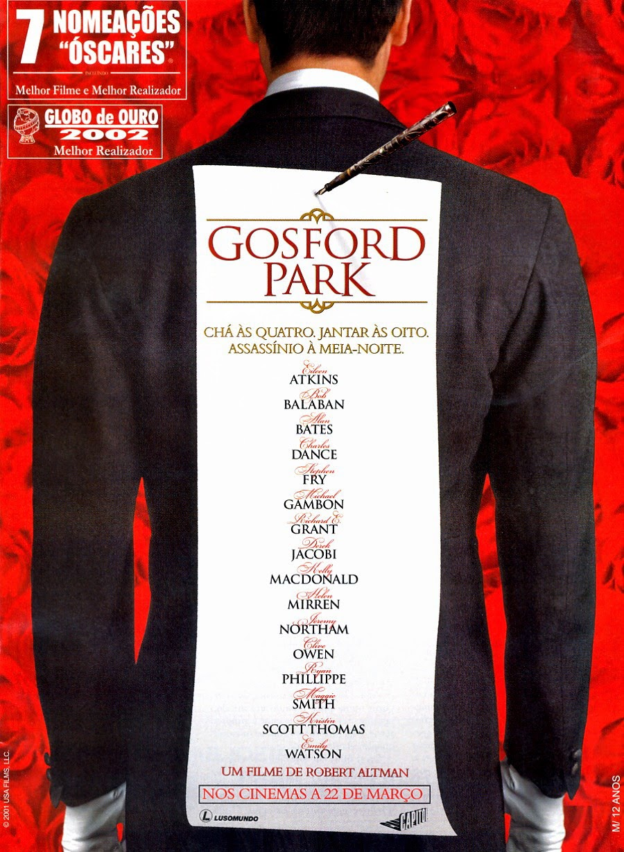 gosford park A description of tropes appearing in gosford park 2001 film directed by robert altman, set in a large country house in 1930s britain the film features an.
