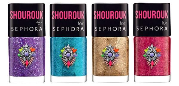 coleção de maquiagem Shourouk para Sephora esmaltes