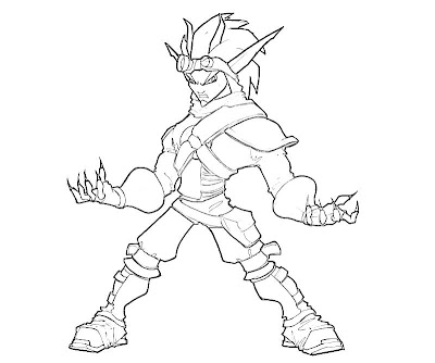 Printable Jak Cute Coloring Pages 2