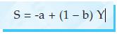 S = -a + (1 – b) Y
