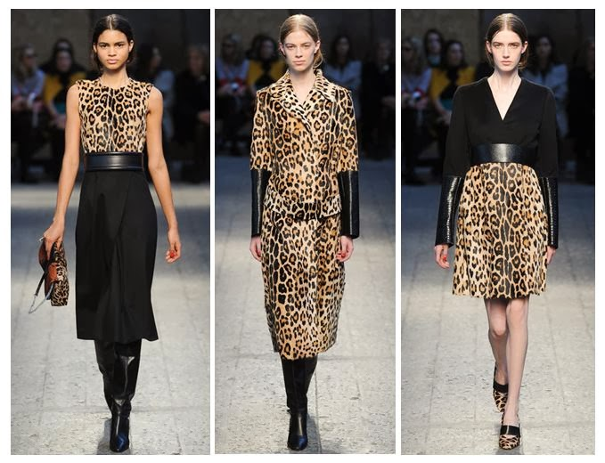 Leopard dresses and jacket on Italy catwalk