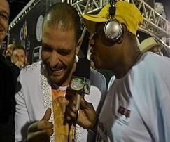O Jornalista Nelson Silva em entrevista exclusiva com o Cantor Diogo Nogueira.