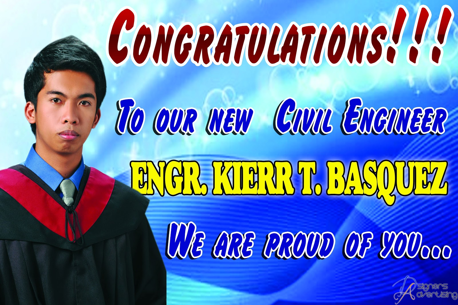 D\'Signers Advertising: Congratulations to Engr. Kierr T. Basquez