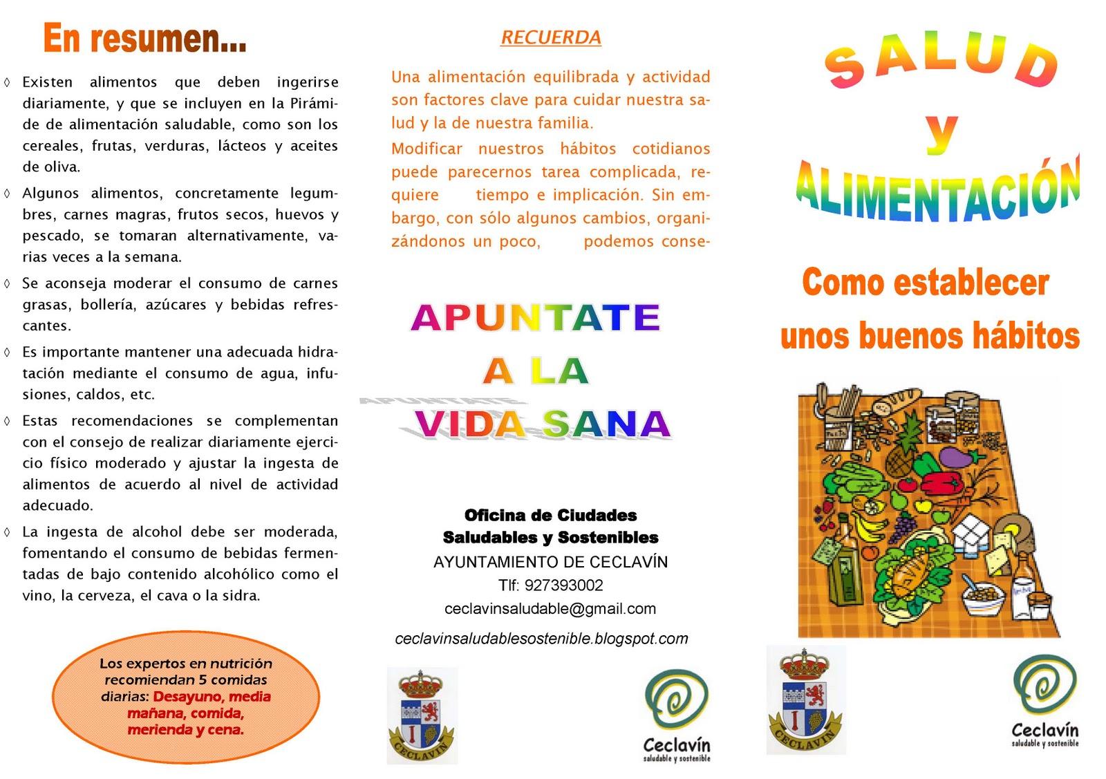 Triptico Para Colorear De Alimentacion Saludable | MEJOR CONJUNTO DE